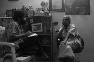 Interviewing Nair Sahab