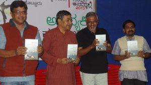 [L to R] Bhanutej, V.S. Sridhar, K. Phaniraj, Samvartha 'Sahil'