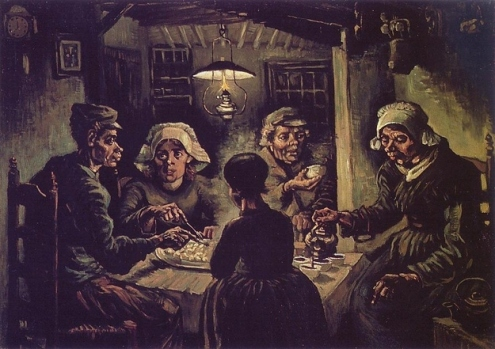 potato eaters by Vincent Van Gogh